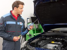 Verificação mecânica do nível de óleo